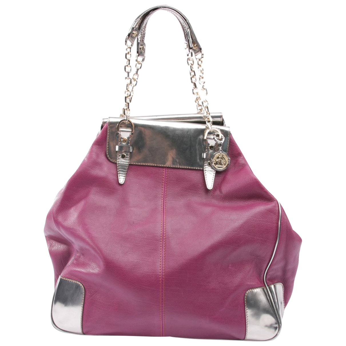 Lanvin - Sac a main   pour femme en cuir - violet