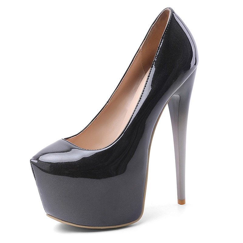 Ericdress Stiletto Heel Round Toe Platform Low-Cut Pumps