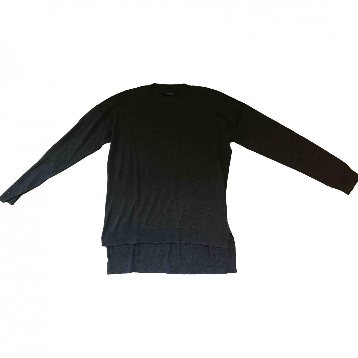 All Saints \N Grey Silk Knitwear for Women 14 UK