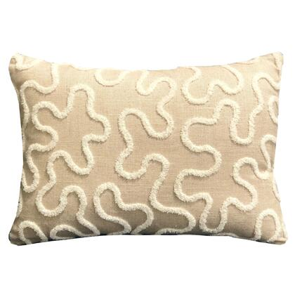 Chandra Taal Collection PBRA2336-2036-DP Double sided  20 x 36 King Plutus Chandra Taal Beige Geometric Luxury Throw