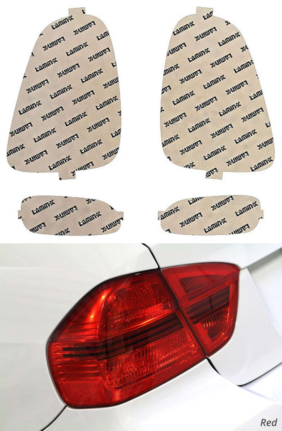 Mini Cooper S 07-10 Red Tail Light Covers Lamin-X MN207-1R