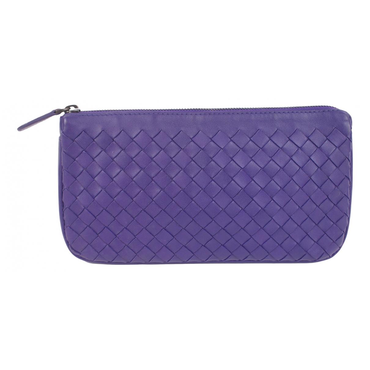 Bottega Veneta - Petite maroquinerie   pour femme en cuir - violet