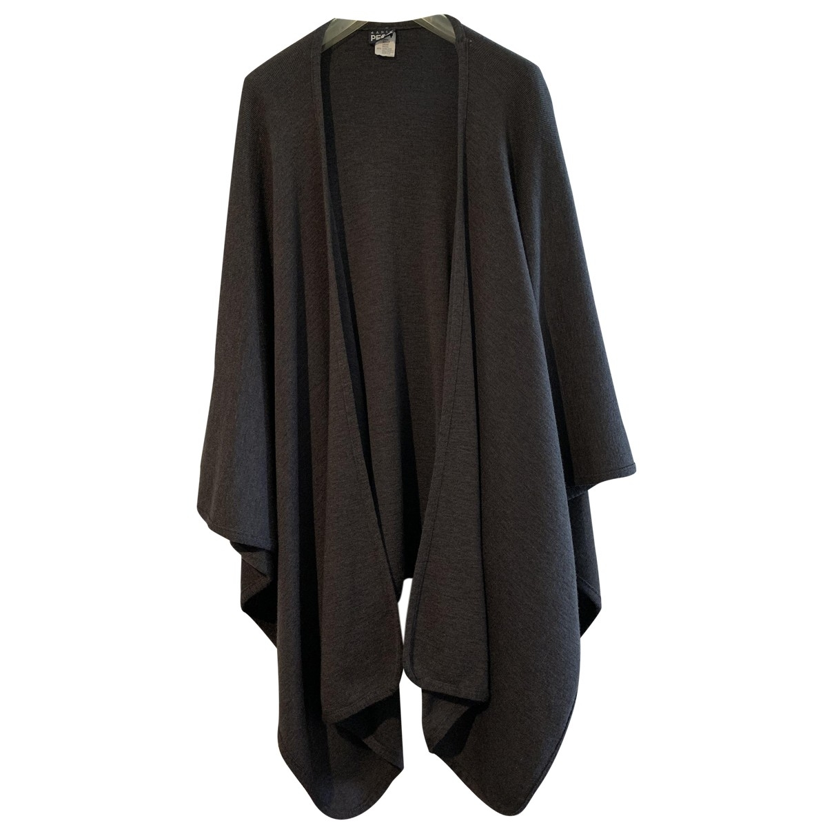 Non Signé / Unsigned Oversize Anthracite Wool jacket for Women One Size International