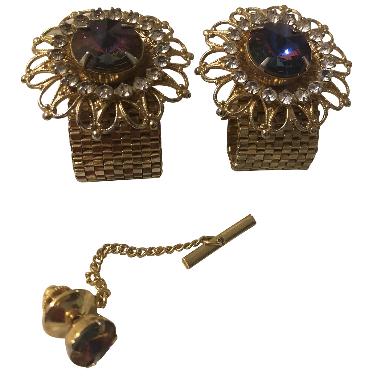 Non Signe / Unsigned \N Schmuck-set in  Gold Metall