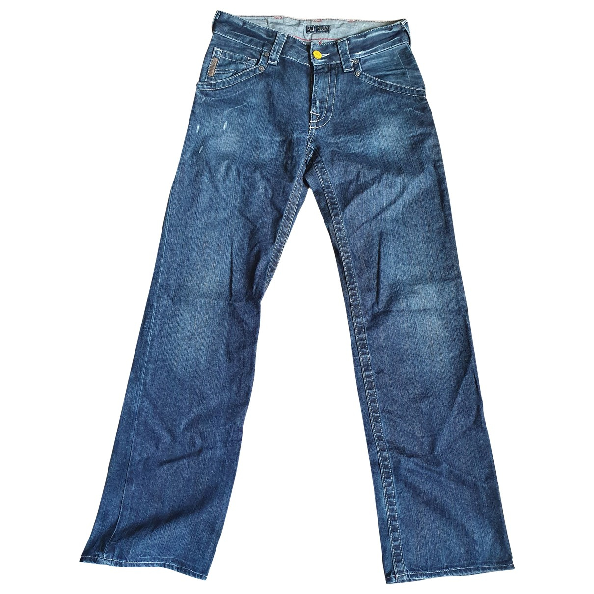 Armani Jeans N Blue Cotton Jeans for Men 30 US