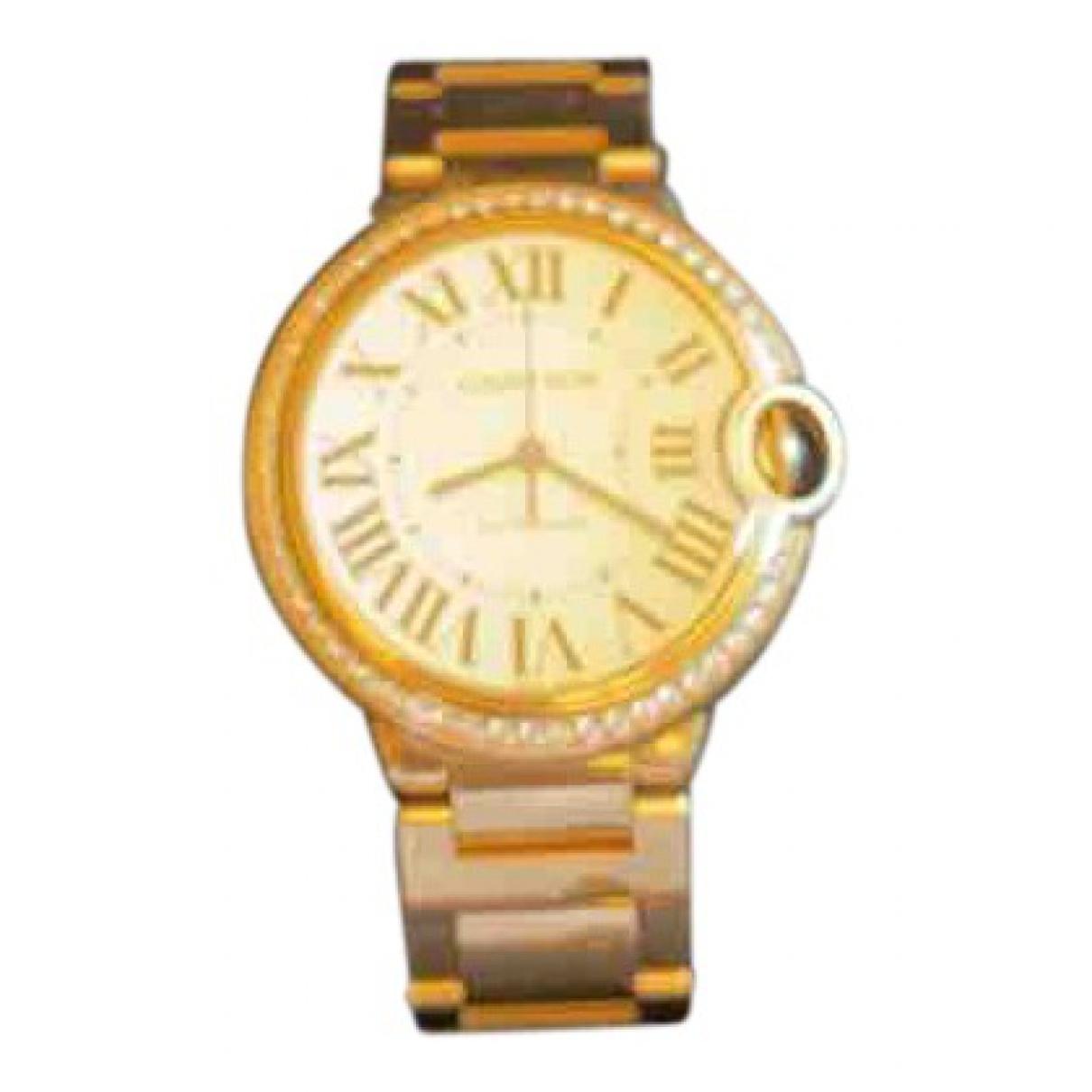 Reloj Ballon bleu de Oro amarillo Cartier