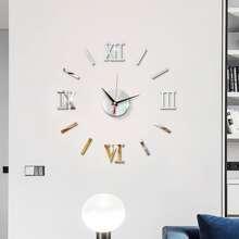 1pc Roman Numerals Mirror Surface Wall Clock
