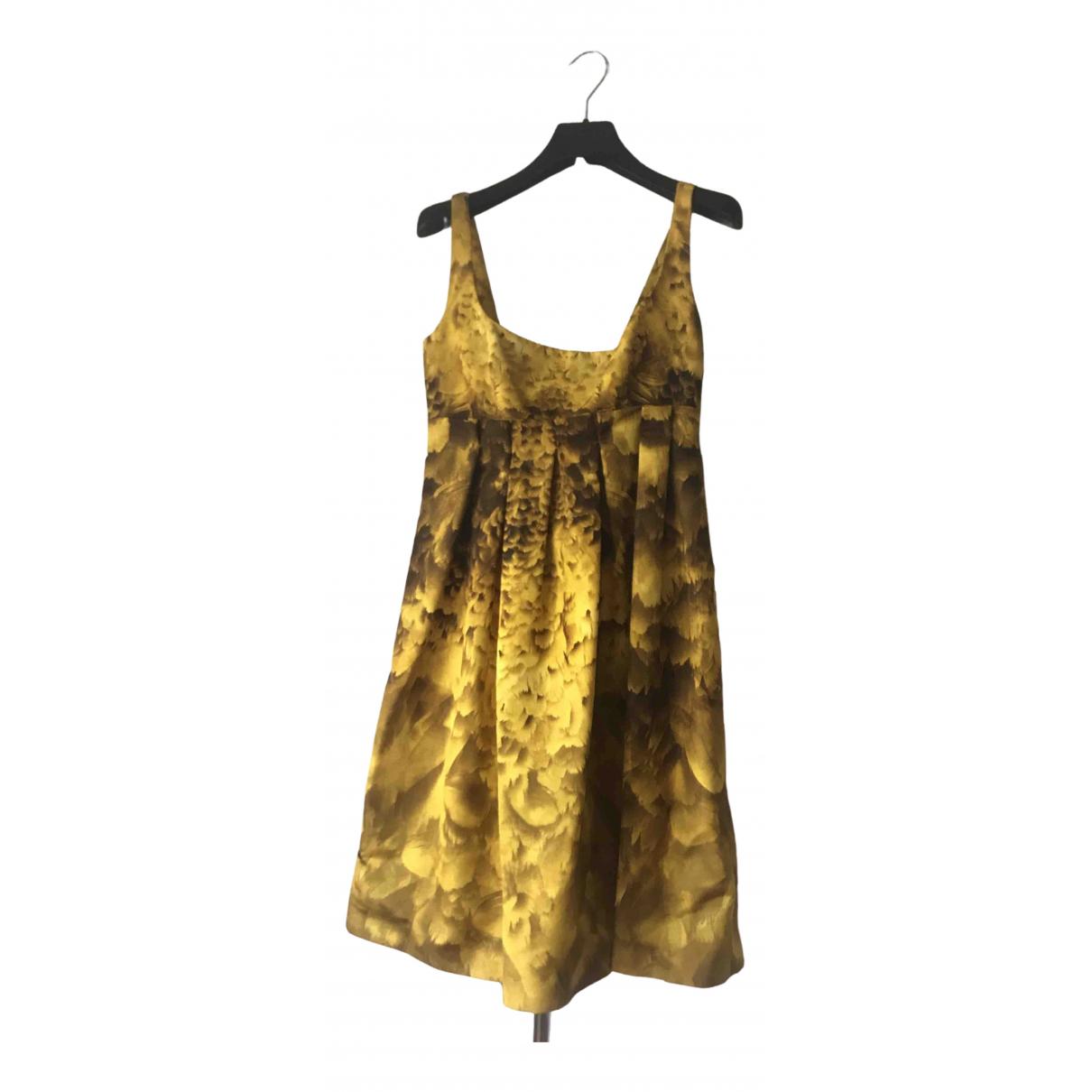 Prada \N Kleid in  Gelb Seide