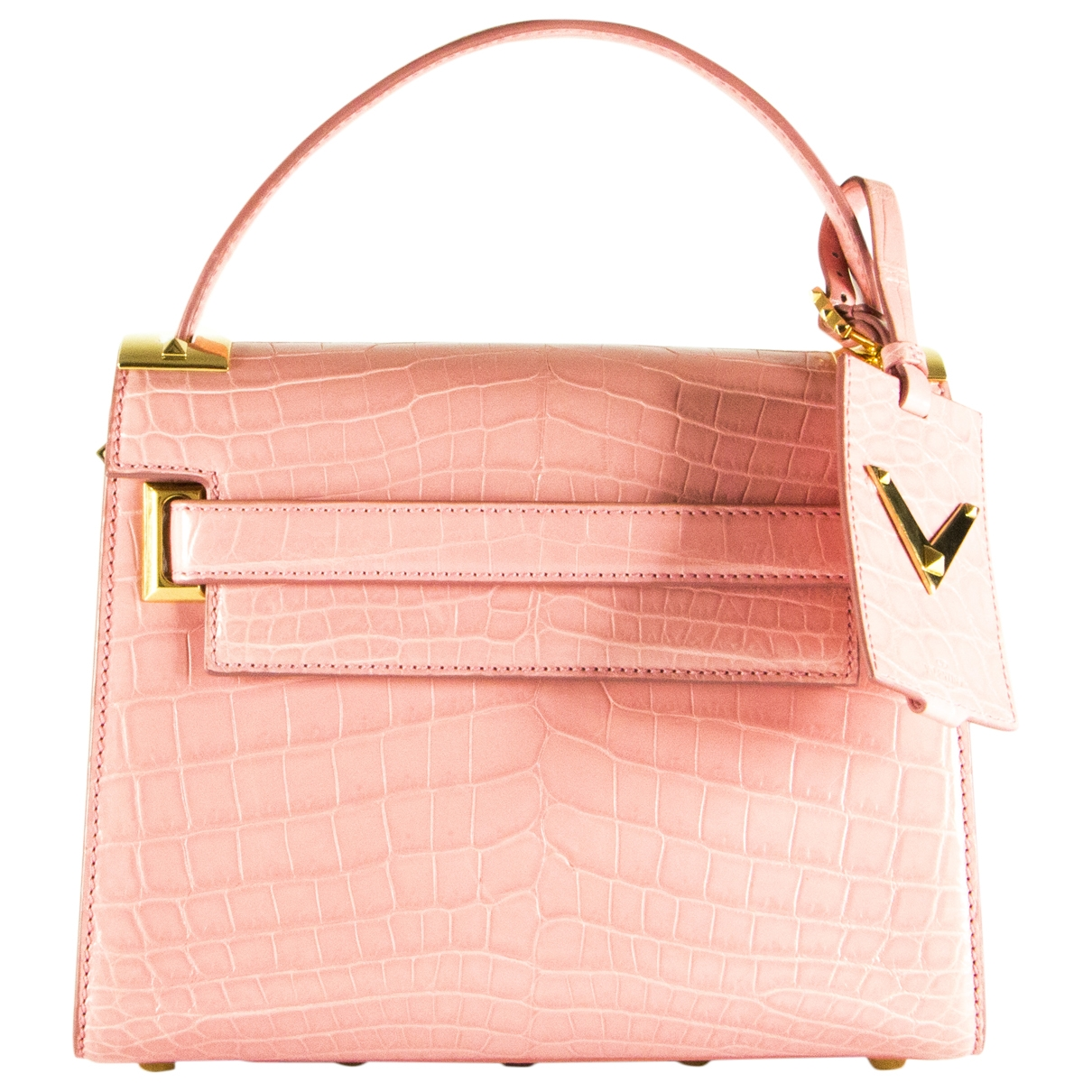 Valentino Garavani My Rockstud Pink Crocodile handbag for Women \N