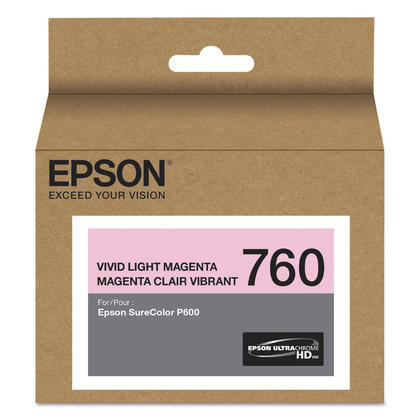 Epson 760 T760620 cartouche d'encre originale magenta clair vibrant