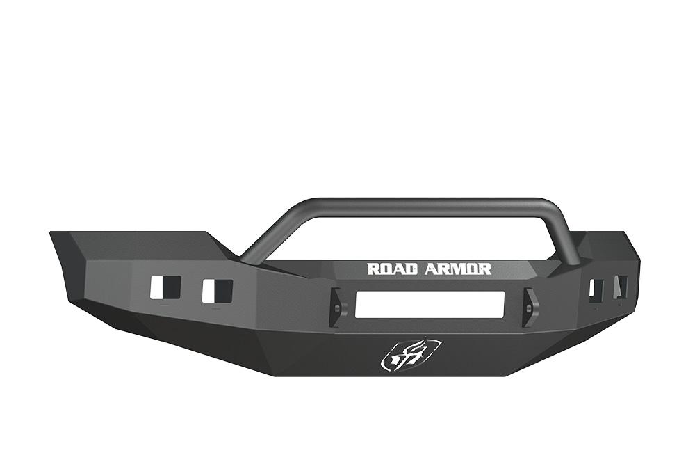 FORD Front Non-Winch Bumper Square Light Ports F-250,F-350,F-450 SUPER DUTY 11-15 BLACK Pre-Runner Guard Road Armor 611R4B-NW Stealth Series
