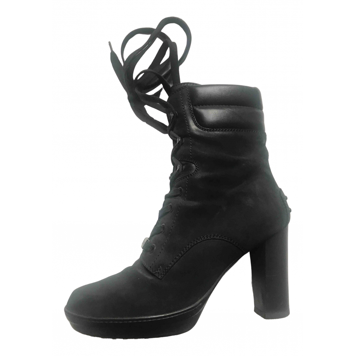 Tod's N Black Suede Ankle boots for Women 37.5 EU