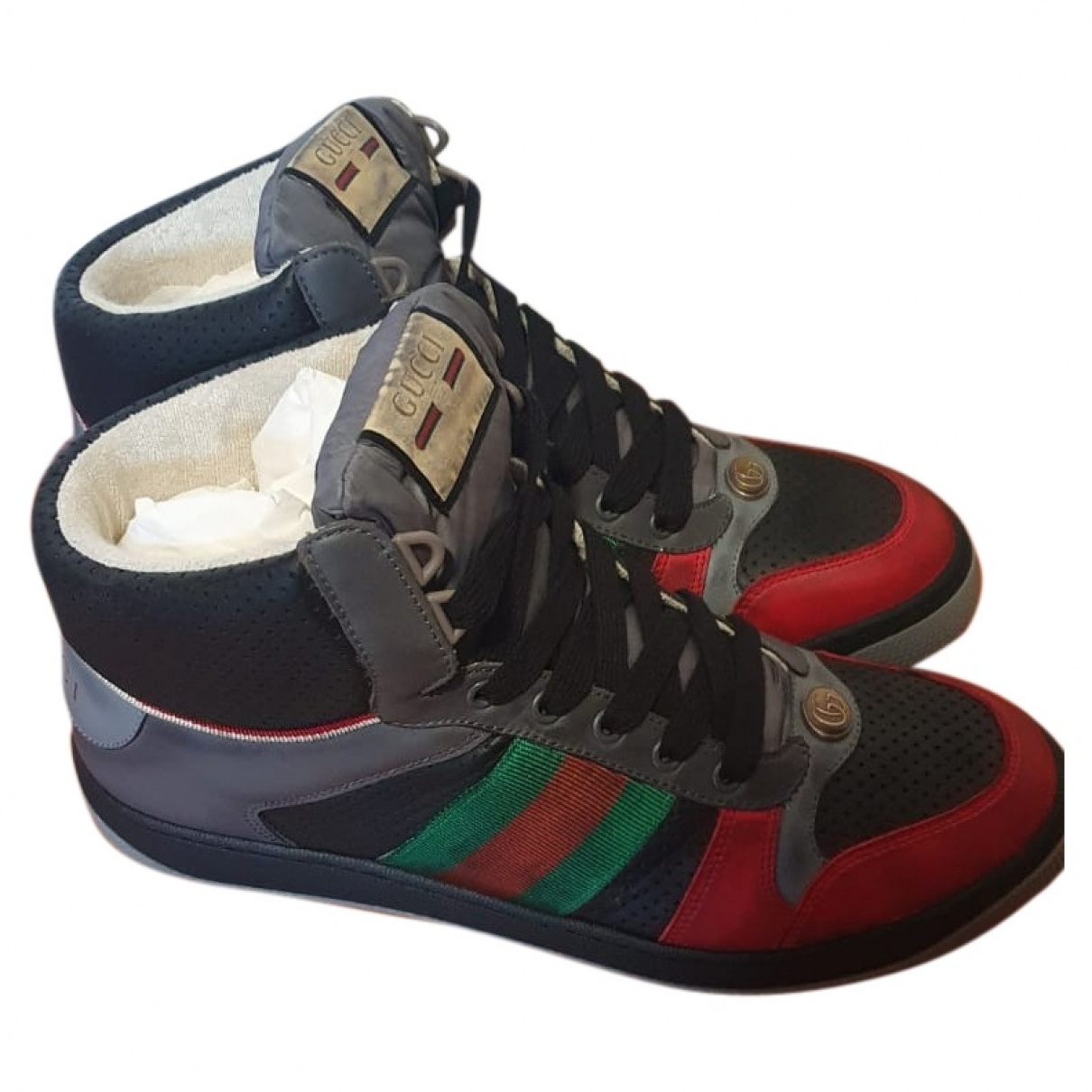 Gucci \N Multicolour Leather Trainers for Men 43 EU