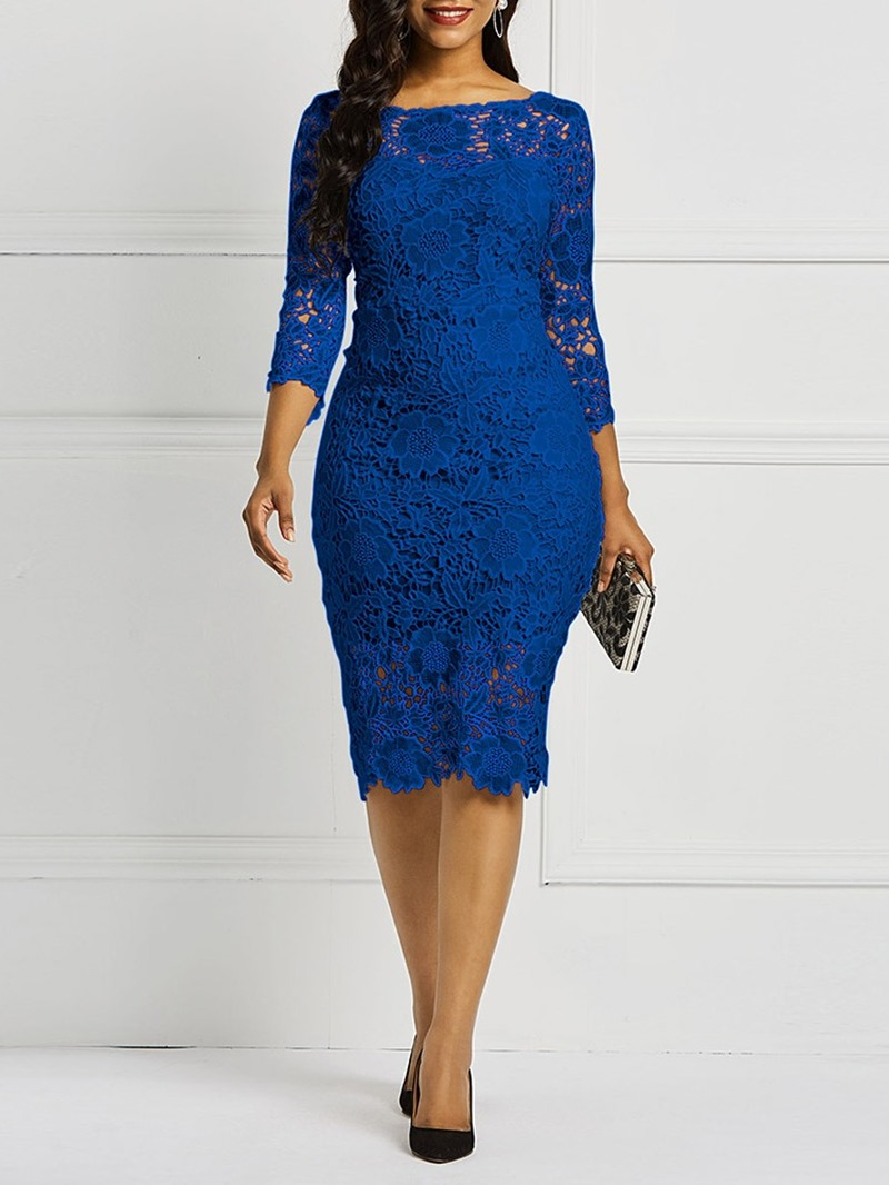 Ericdress Lace Fabric Bodycon Knee-Length Sexy Dress