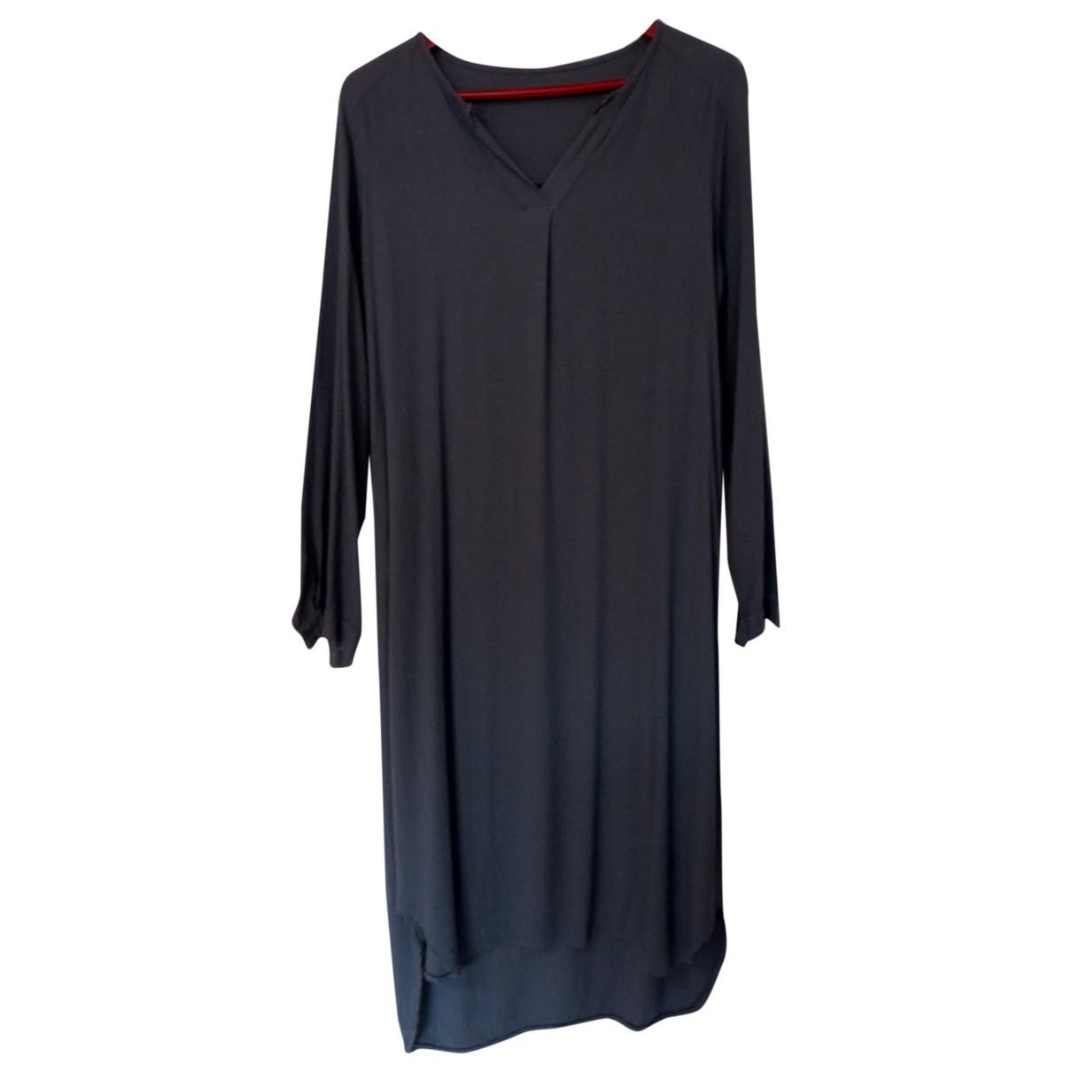 C.b. Made In Italy \N Kleid in  Grau Viskose