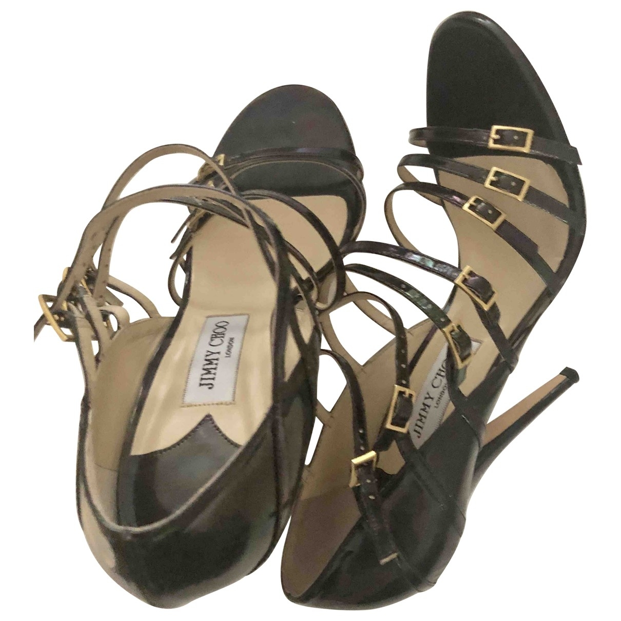 Jimmy Choo \N Blue Patent leather Sandals for Women 8.5 UK