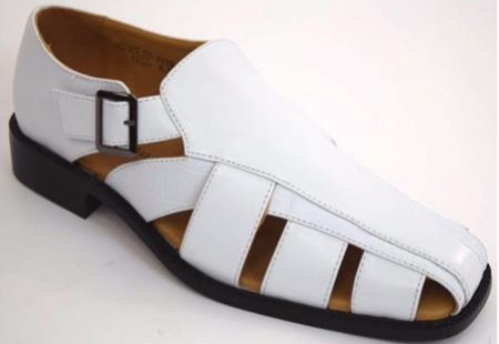 Men's Dress Casual Fisherman Sandals White Closed Toe Shoe