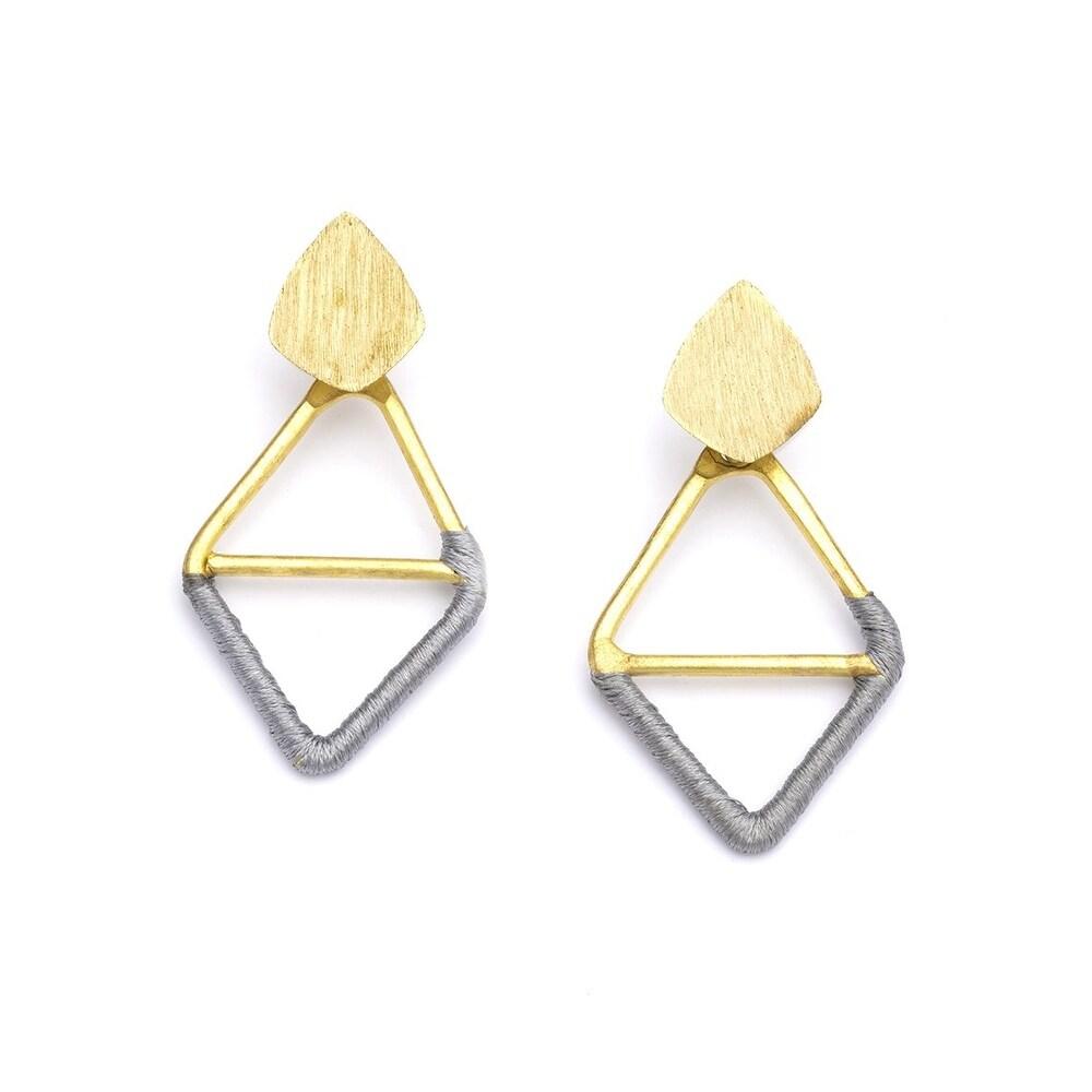 Kaia Earrings - Gray Diamond - 2