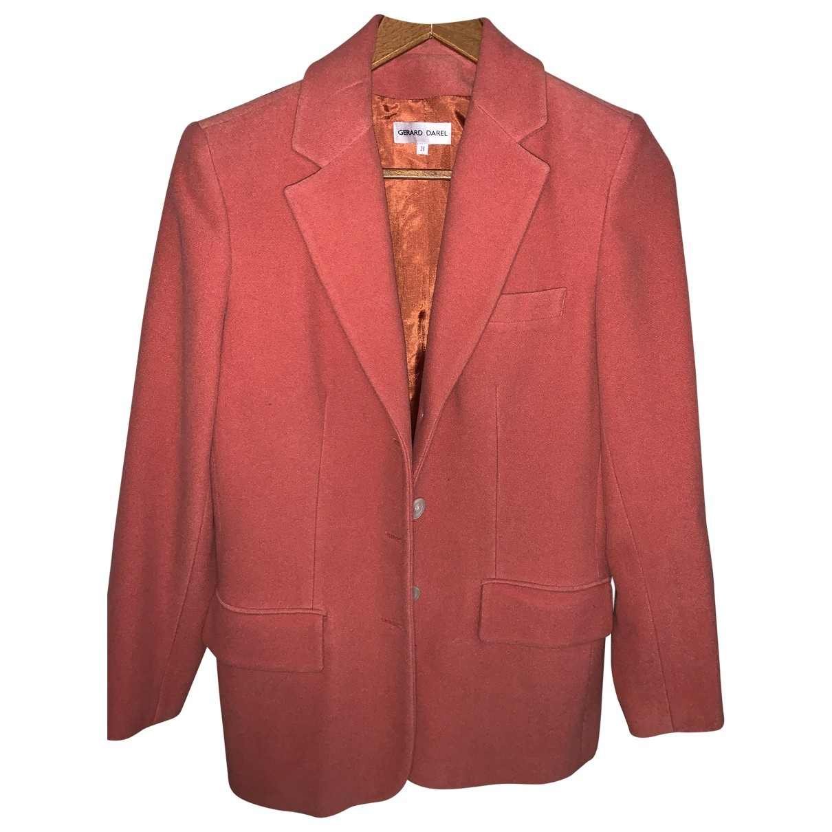 Gerard Darel - Veste   pour femme en laine - rose