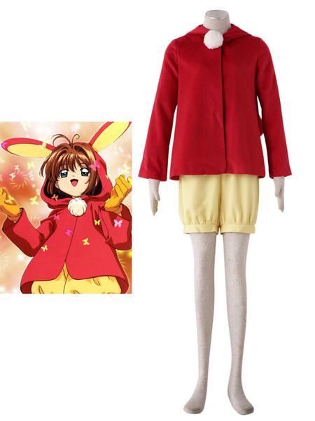 Milanoo Cardcaptor Sakura Kinomoto Sakura Halloween Cosplay Costume Moe Rabbit Ear Version Halloween