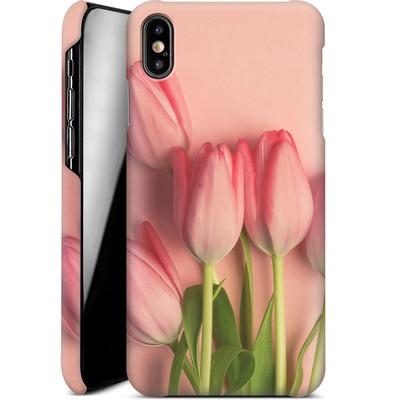 Apple iPhone XS Max Smartphone Huelle - Pink Tulips von Joy StClaire