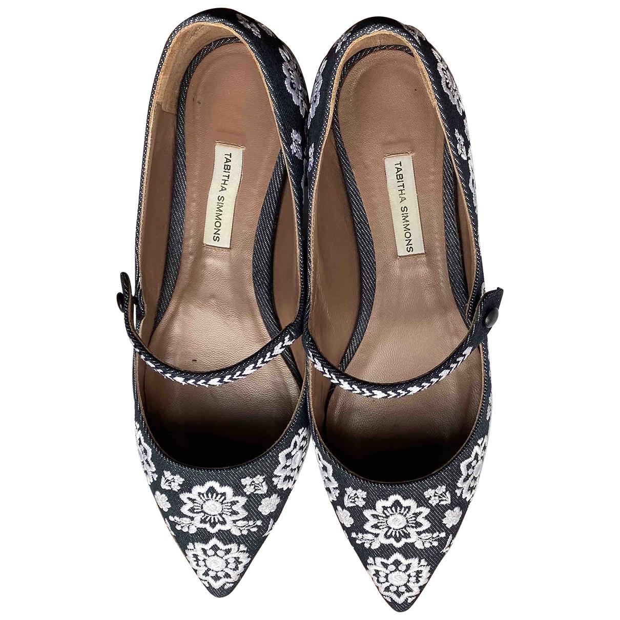Tabitha Simmons \N Blue Leather Ballet flats for Women 4.5 UK