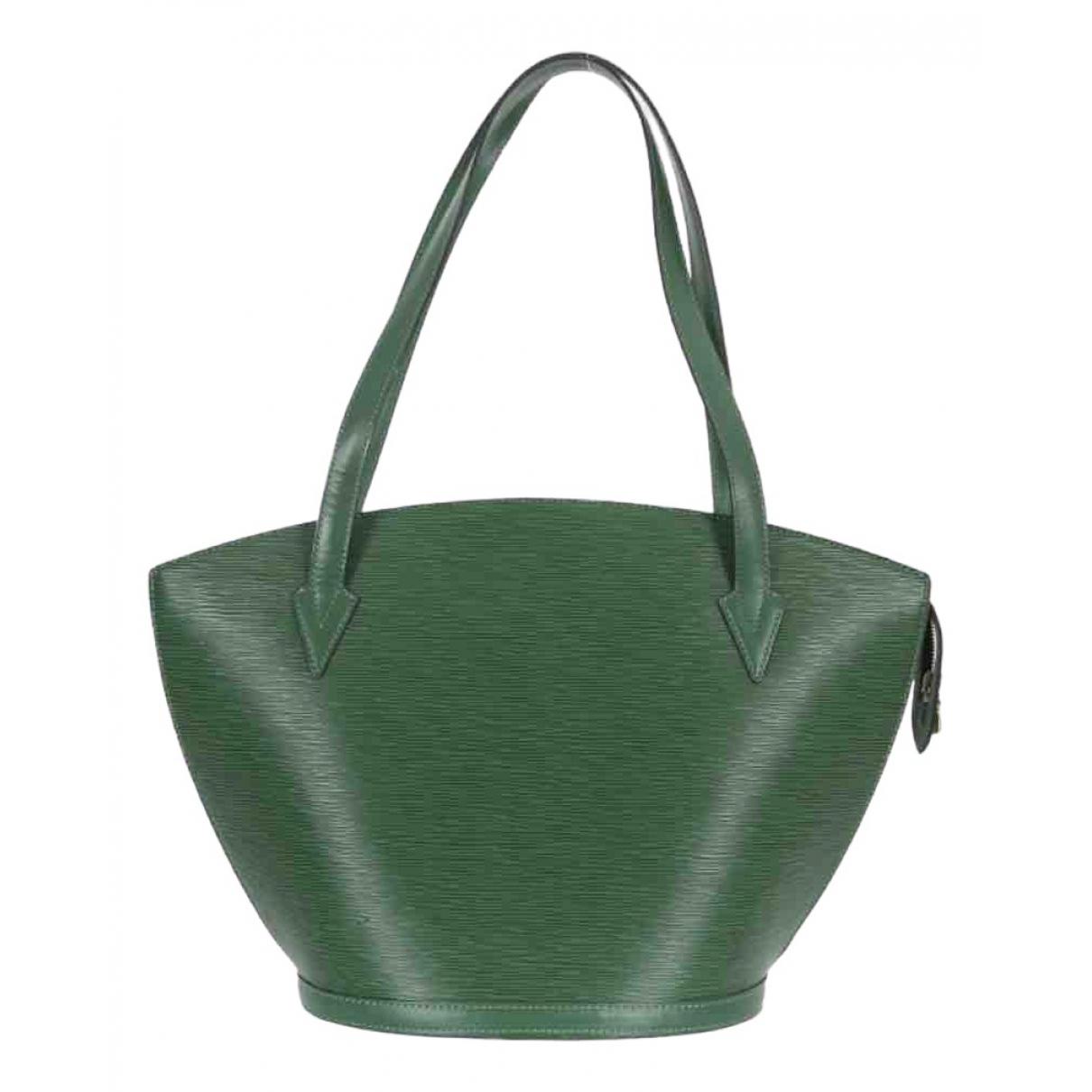 Louis Vuitton Saint Jacques Handtasche in  Gruen Leder