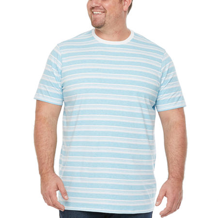 The Foundry Big & Tall Supply Co.-Big Mens Crew Neck Short Sleeve T-Shirt, X-large Tall , Blue