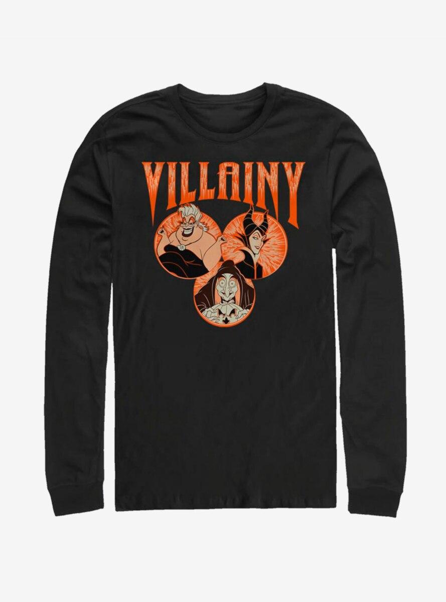 Disney Villains Evil Trifecta Long-Sleeve T-Shirt