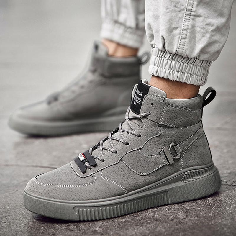 Ericdress Lace-Up Color Block High-Cut Upper Men's Skate Shoes
