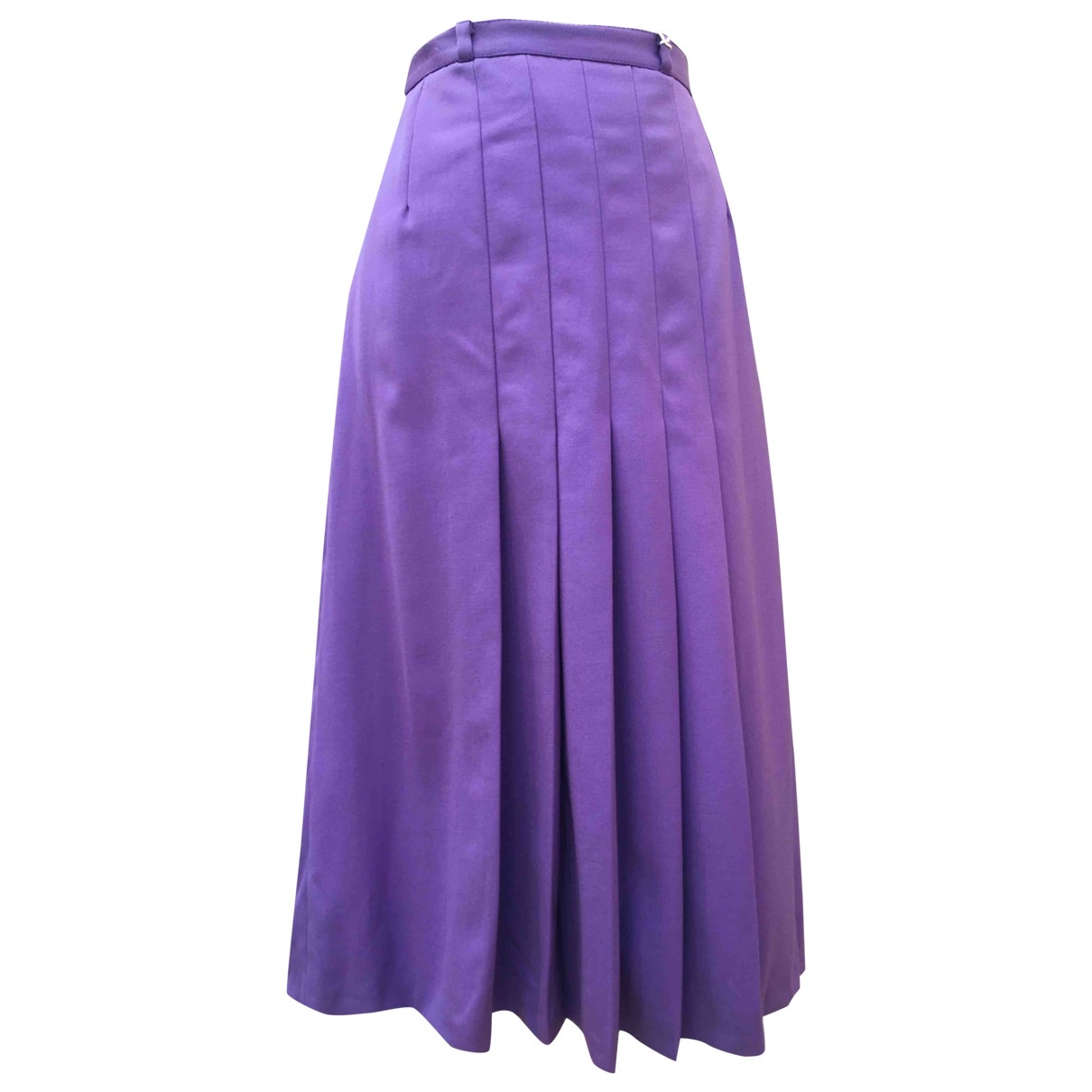 Non Signé / Unsigned \N Purple Wool skirt for Women M International