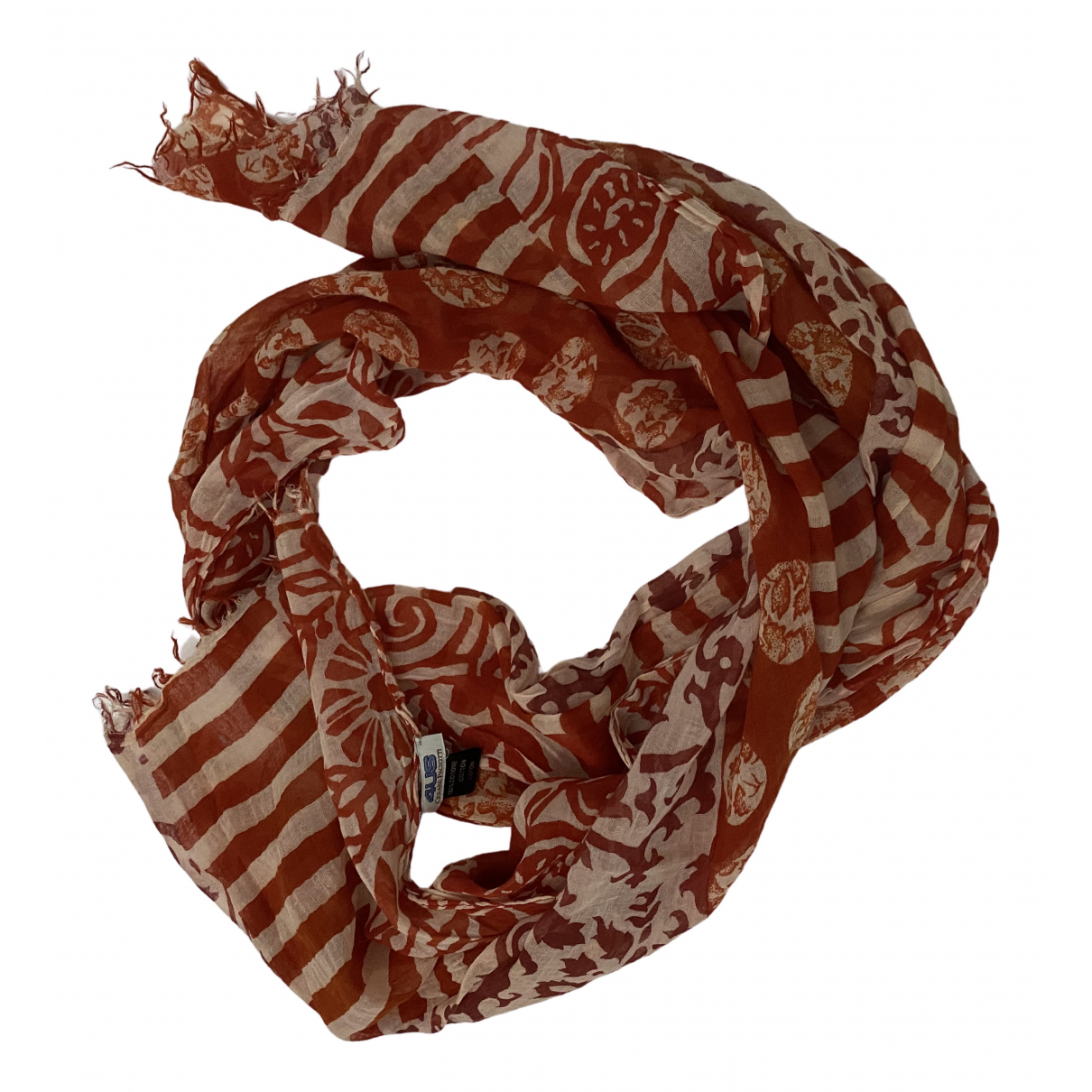 Cesare Paciotti N Red Cotton scarf for Women N