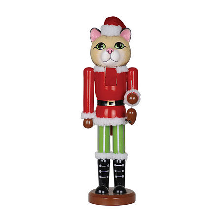 Hand Painted Christmas Nutcracker, One Size , Red