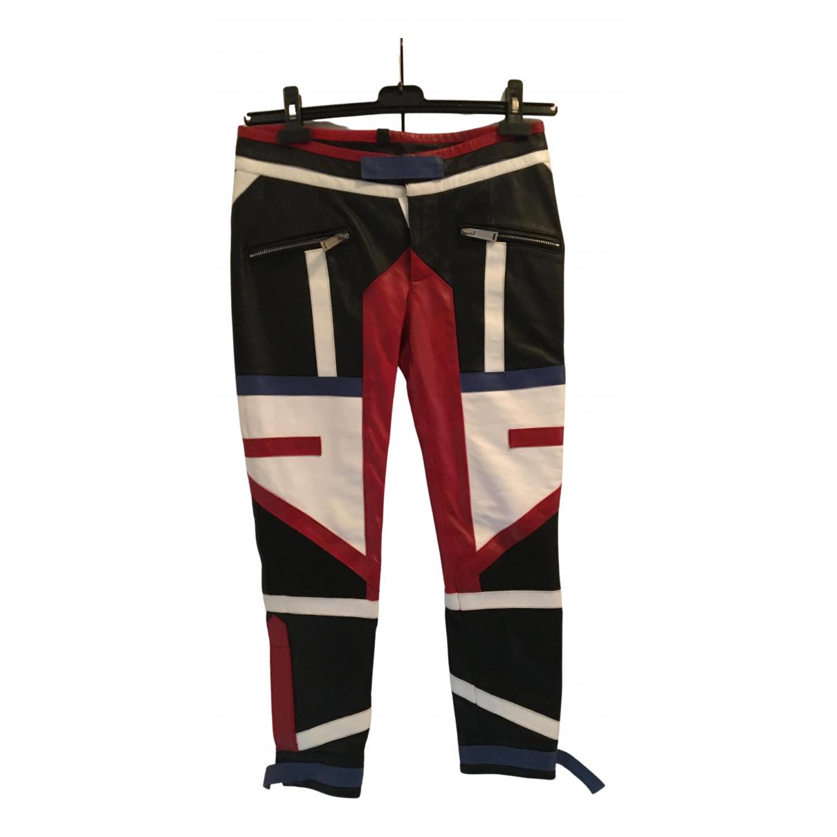 Pantalon pitillo de Cuero Dsquared2