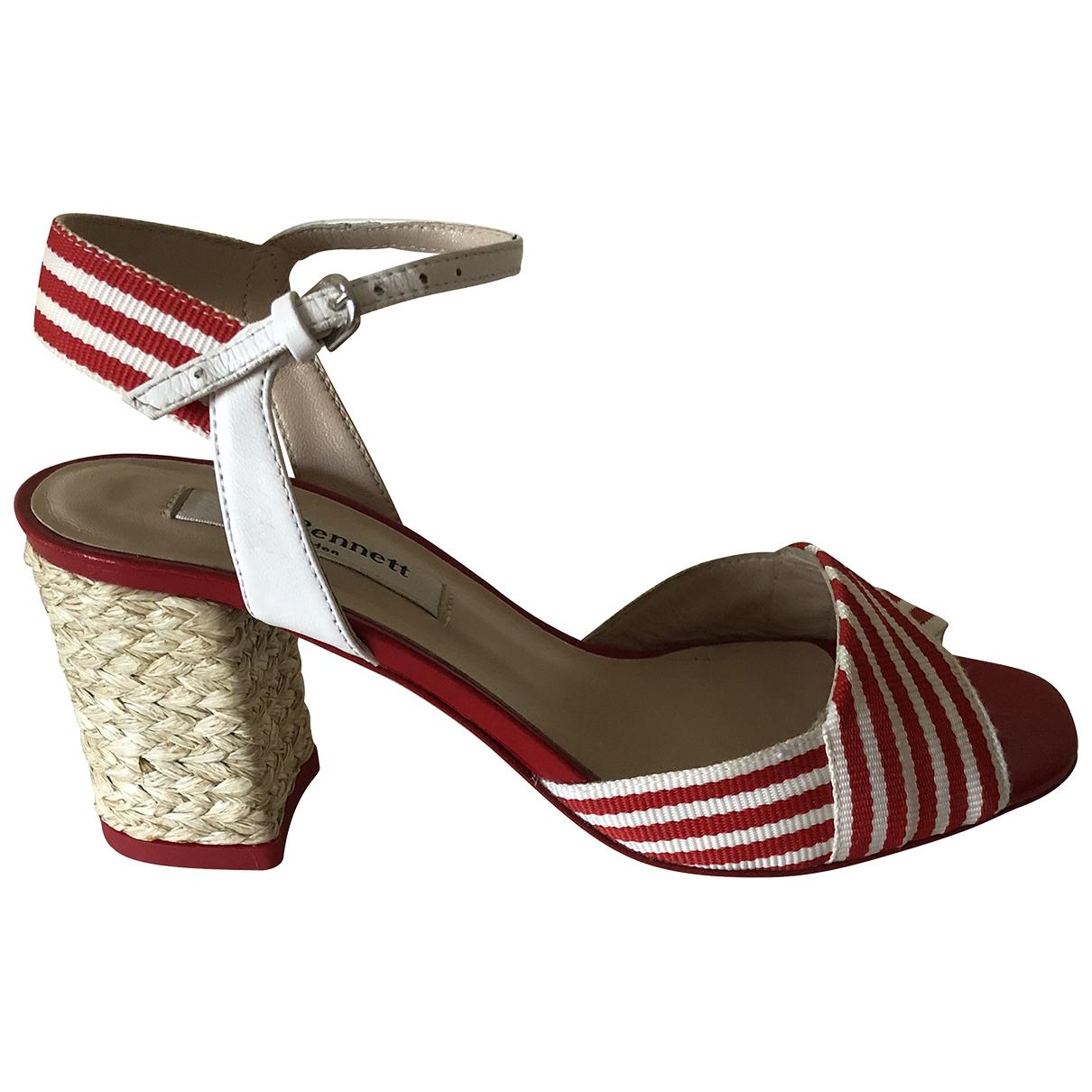 Lk Bennett - Sandales   pour femme en toile - rouge