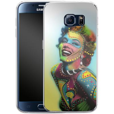 Samsung Galaxy S6 Silikon Handyhuelle - Woman With Pattern von Mark Ashkenazi