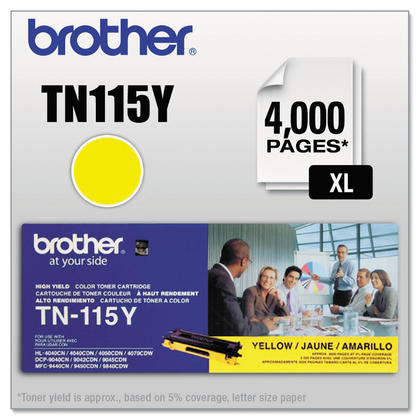 Brother TN115Y Original Yellow Toner Cartridge