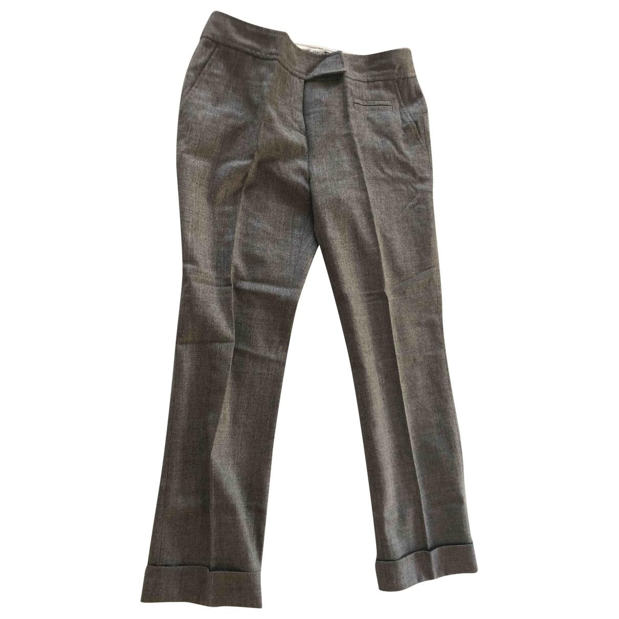 Diane Von Furstenberg - Pantalon   pour femme en coton - gris