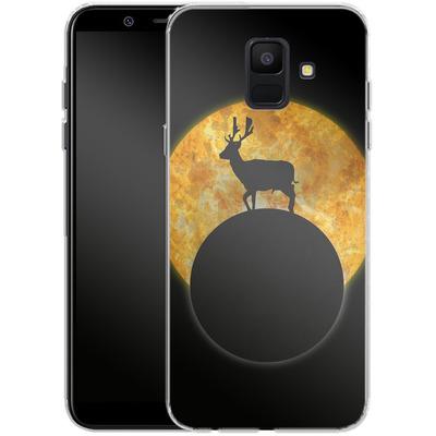 Samsung Galaxy A6 Silikon Handyhuelle - Deer on the Moon von Barruf