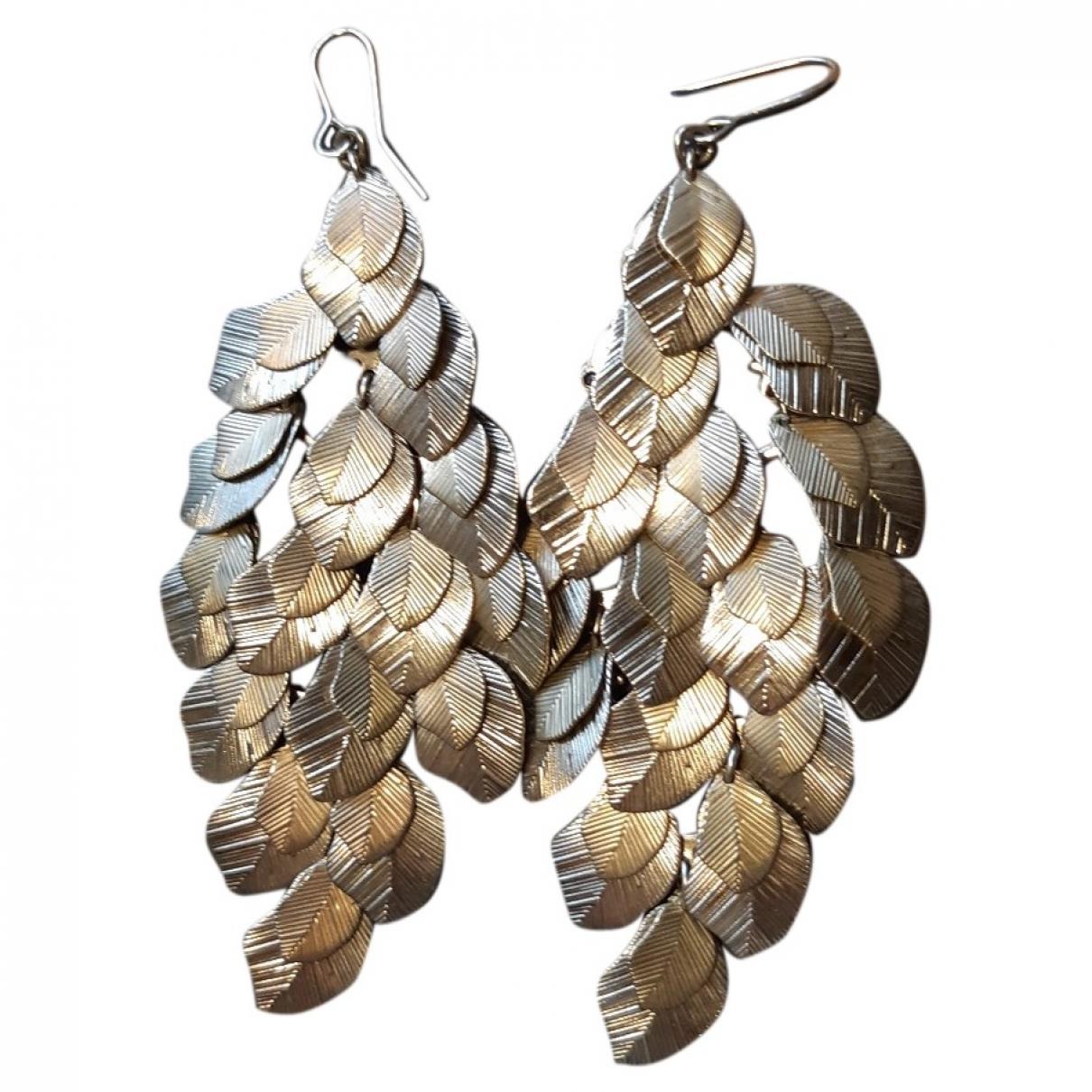 - Boucles d'oreilles Motifs Floraux pour femme en metal - dore