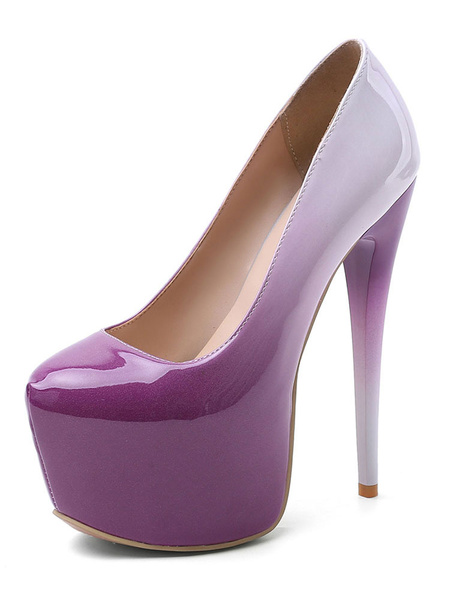 Milanoo Women Sexy Platform High Heels Ombre Stiletto Heel Pumps For Rave Club