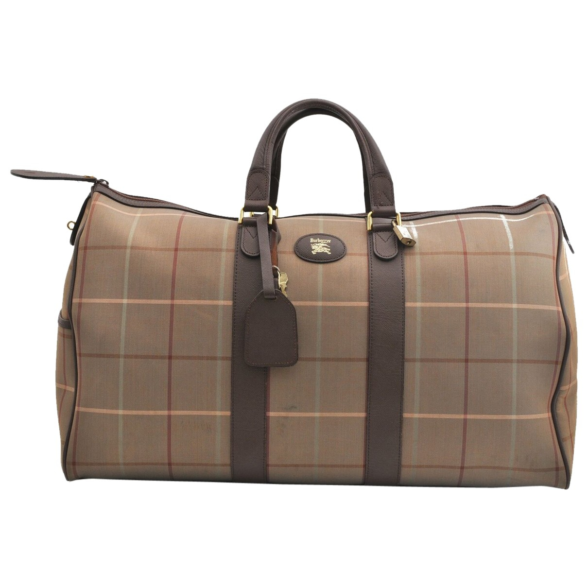 Burberry N Brown Cloth Travel bag for Women N