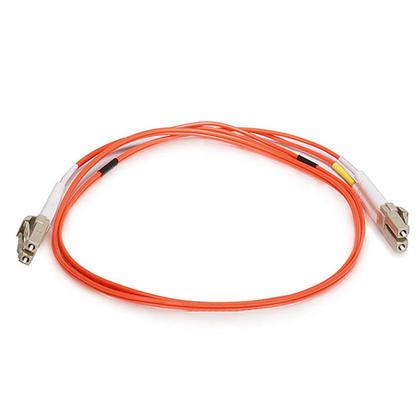 Fiber Optic Cable, OM1 LC/LC, Multi Mode, Duplex (62.5/125 Type) - Orange - Monoprice® - 1m