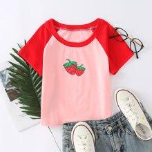 Camisetas Frutas y verduras Bebe Rosa Casual