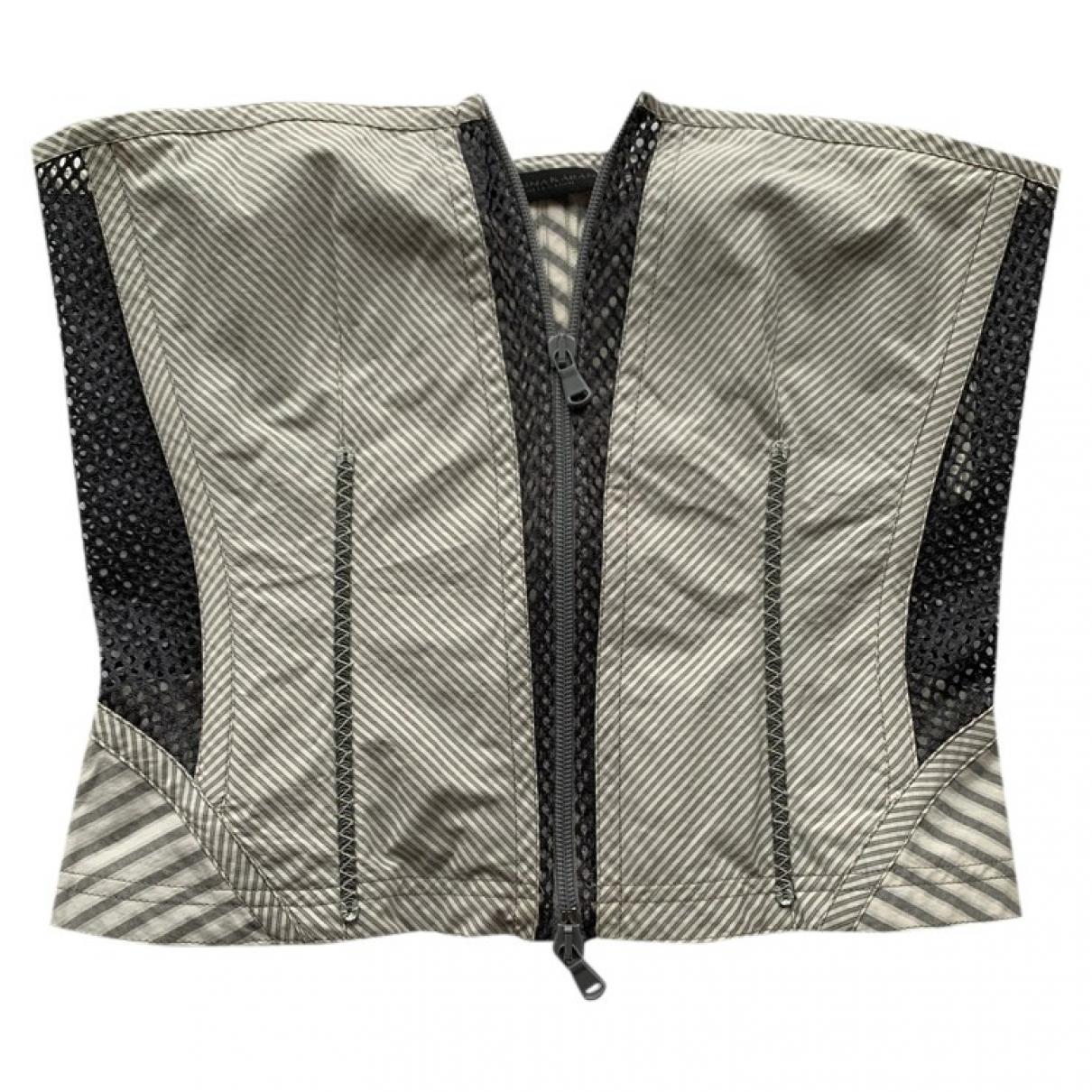 Donna Karan - Top   pour femme en coton - gris