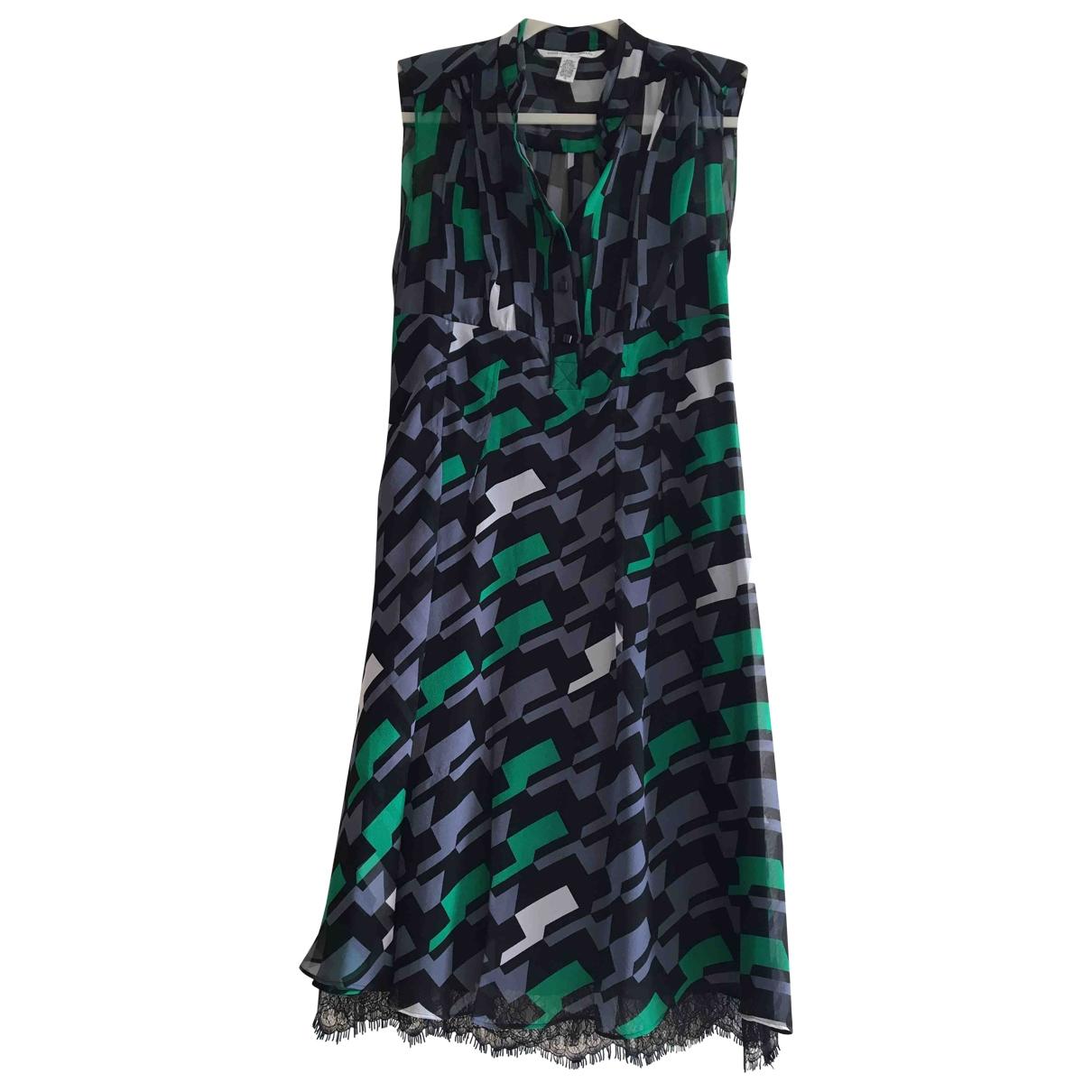 Diane Von Furstenberg \N Black Silk dress for Women 10 US