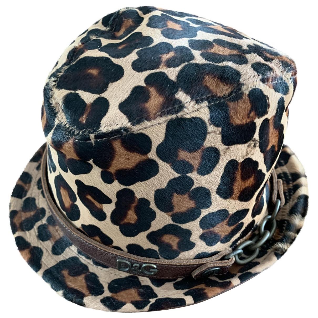 D&g \N Multicolour Leather hat for Women M International