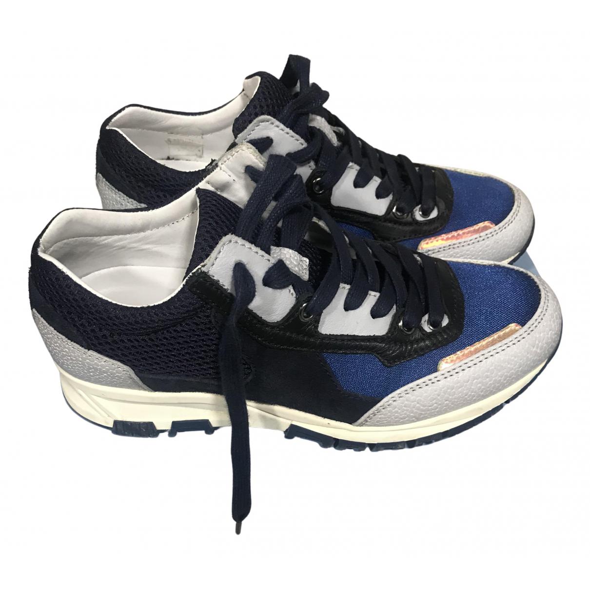 Lanvin \N Sneakers in  Blau Leinen