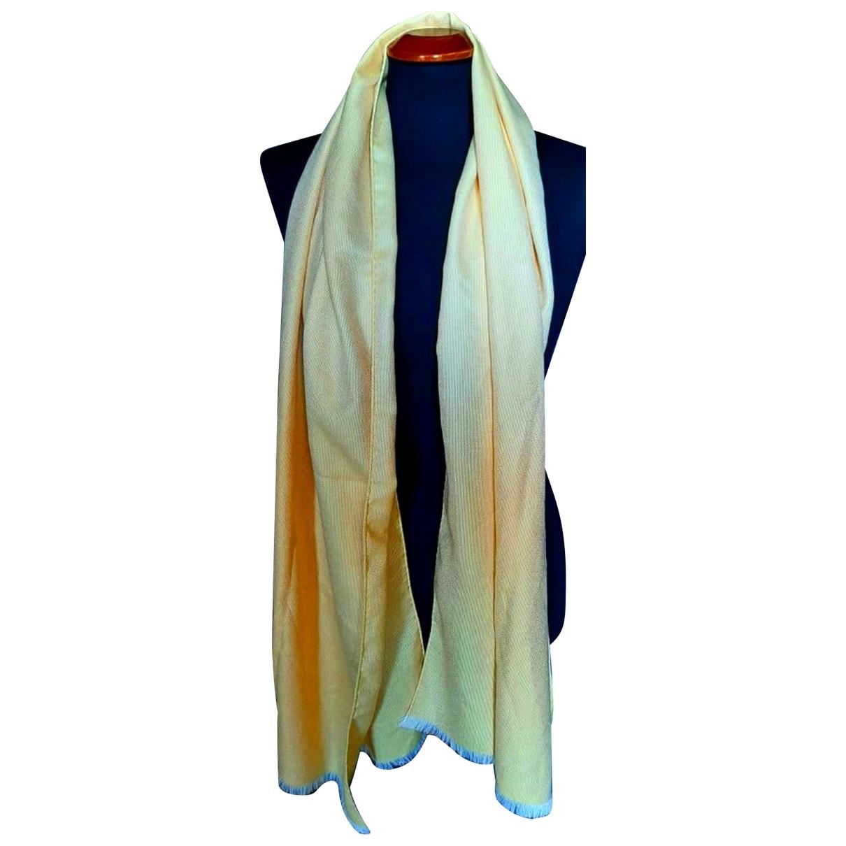 Loro Piana - Foulard   pour femme en cachemire - jaune
