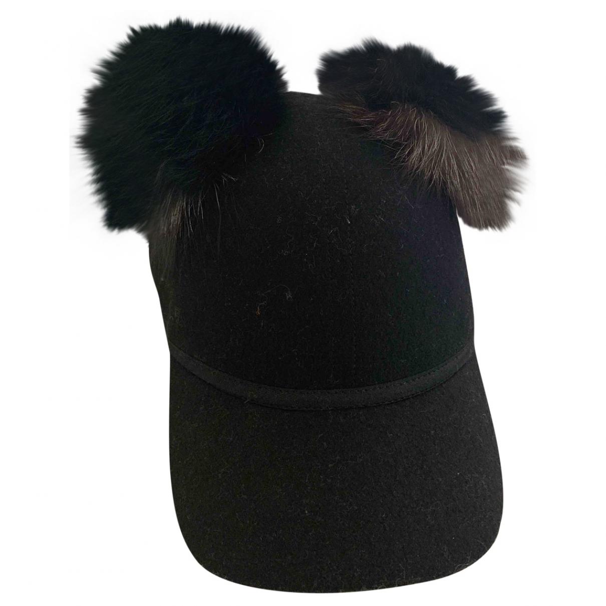 Charlotte Simone - Chapeau   pour femme en laine - noir